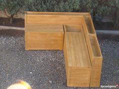 Zestaw mebli ogrodowych na taras balkon kufer ławka donica