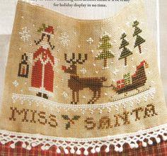 Miss Santa - Laura Rimola (designer) - stitch count 75w x 48h