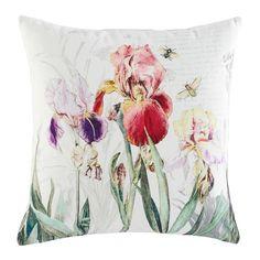 Riechen Sie den Duft der Blumen in Ihrer Fantasie! Diese Kissenhülle entführt Sie auf eine bunte Wiese mit farbenprächtigen Blütenund frechen Bienen.