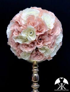 BLUSH Flower Ball Centerpiece, Blush Centerpiece, Wedding Centerpieces, Mickey Centerpiece, Crown Centerpiece, Bling Wedding, Ivory Wedding, Blush Flowers, Cut Flowers