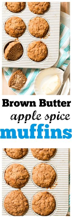 brown butter apple spice muffins brown butter apple spice muffins ...