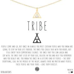 Bryan Anthonys dainty Tribe Friendship Teepee Necklace. Perfect gift for your best friend! $38