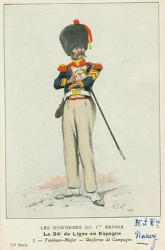 French; 34th Line Infantry, Drum-Major, in Spain