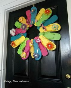 summer decor for entryway, chalkboard paint, crafts, foyer, seasonal holiday decor, wreaths