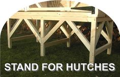 legs for rabbit hutch