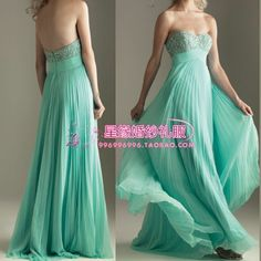 2013 fashion sexy long floor-length mint green bridesmaids dresses  (color or  size can customized )  $46.99 Mint Green Bridesmaid Dresses, Grad Dresses, Homecoming Dresses, Nice Dresses, Evening Dresses, Prom Dress, Skirt Fashion, Fashion Dresses, Fashion Bags