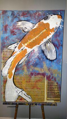 Modern Artwork, Contemporary Art, Original Artwork, Original Paintings, Old Sheet Music, Koi, The Originals, Artist, Prints