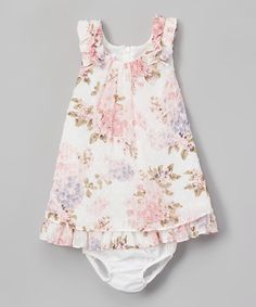 Loving this Ivory Floral Shift Dress - Infant, Toddler & Girls on #zulily! #zulilyfinds