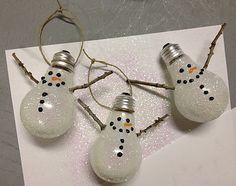 Christmas Craft - Light Bulb Ornaments