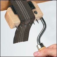Gooseneck Webbing Stretcher - Woodworking