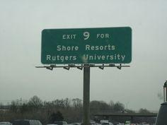 Two of NJ's premier destinations! #Rutgers #NJ #JerseyShore