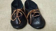 Kleine Leder Puppenschuhe für alte oder moderne Puppe / Leather Doll Shoes