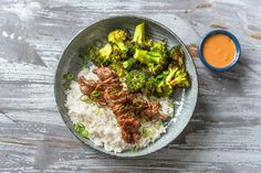 Satay is a popular dish throughout Southeast Asia that features skewered meat and a creamy peanut sauce. It's commonly served as a snack food, but we bulked it up into a meal with the help of fragrant jasmine rice and crispy roasted broccoli.