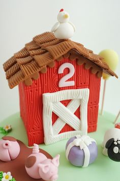 Emma's Farm Cake by ivydesigns, via Flickr