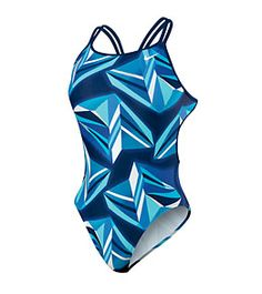 Nike Swim Jagged Geo Spider Back Tank at SwimOutlet.com - Free Shipping