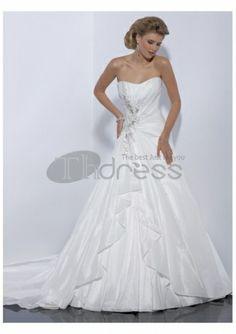 pas cher vente chaude occasionnels robes de mariée A-ligne