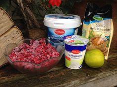 Griechischer Joghurt mit Himbeeren, ein verführerischer Nachtisch