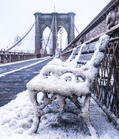 A frozen New York. Looks like the snow/ice storm we had recently (March 14, 2017). Home Nyc, Hudson River, City That Never Sleeps, New York Snow, New York Winter, Brooklyn Bridge, Central Park, Las Vegas, Paris