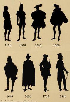 Mens fashion silhouettes http://callmevictorian.com/851/mens-fashion-silhouettes/