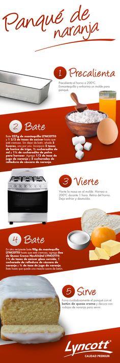 Panqué de naranja #Lyncott #RecetaFácil #Postre #Panque #Saludable #Naranja