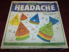 Headache game...I remember putting the playing pieces on my fingers as nails!