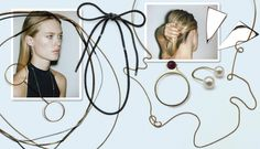 Украшения у Saskia Diez почти незаметные. Тонкие золотые колечки, ожерелья-цепочки, кожаные браслеты, серьги в виде асимметричных треугольников из серебра — все это выглядит актуально, интересно и универсально