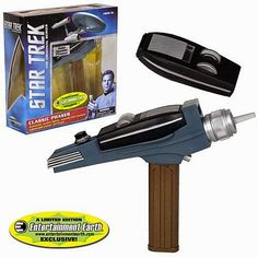 BLOG DOS BRINQUEDOS: Star Trek Classic Gold Phaser Handle
