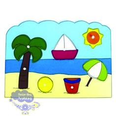 Quebra Cabeça Grande Praia, Quebra Cabeça de Pinos de Madeira, Quebra Cabeça Pipoquinha, Brinquedos Pipoquinha, brinquedos educativos, brinquedos