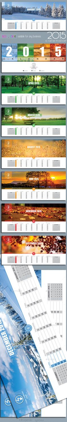 Desk Calendar 2017 Template Indesign Indd | Calendar Templates