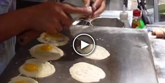 He Cracked Eggs above Pancake &What she Ends Up With Has Me Drooling!