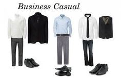 These are the types of clothes for men that are definitely interview fashion DO's. Dark slacks and solid-colored, long-sleeved button-up shirts with belts and nice matching shoes.