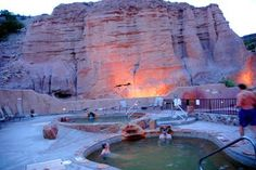 Ojo Caliente Mineral Springs And Spa...LOVE this place!  It's the only natural hot springs in the world that are made up of four different type of minerals waters: Lithium, Arsenic, Iron and Soda.  Each having different health benefits.