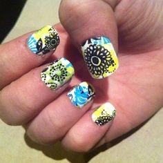 Vera Bradley nails! - in Lime's Up #sephoraspring @Sephora
