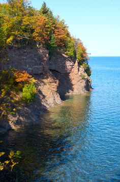 One of the cliffs at Presque Isle in Marquette, MI and on Lake Superior.