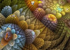Sandra Bauser - Digital Art. More quilt inspiration??