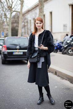 Anastasia Ivanova Street Style Street Fashion Streetsnaps by STYLEDUMONDE Street Style Fashion Blog