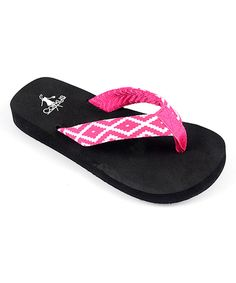 607efd4562b2db Another great find on  zulily! Corky s Footwear Fuchsia Geometric Flip-Flop  by Corky s