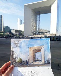 Juan Carlos Figuera (@jc_figuera) в Instagram: «La Défense undía soleado de invierno, Paris. #aquarell #art #painting #watercolor #watercolour #sketch #paint #drawing #sketching #sketchbook #travelbook #archisketchery #sketchaday #sketchwalker #sketchcollector #traveldiary #topcreator #usk #urbansketch #urbansketchers #скетчбук #скетч #скетчинг #pleinair #aquarelle #watercolorsketch #usk #architecture #painting #illustration
