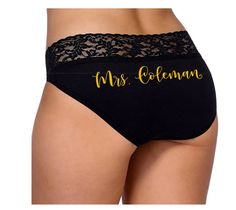 f3a42102a7dd4 Personalized Mrs. Bridal Panties