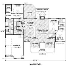 Country Ranch House Plan 74834 ($250) ❤ liked on Polyvore featuring fillers, backgrounds, text, floor plans, home, magazine, quotes, doodle, phrase and borders