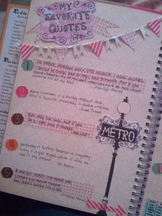 I love the bunting banner on this smashbook page! Could work GREAT for a mostly written page!