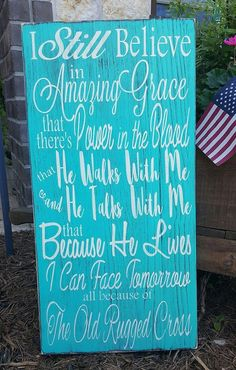 Hey, I found this really awesome Etsy listing at https://www.etsy.com/listing/292894455/amazing-grace-wood-sign-old-rugged-cross