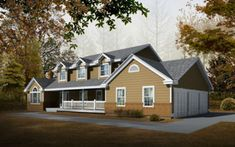 Farmhouse Exterior - Front Elevation Plan #100-202