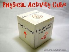 Activity cube, good idea. Could use for speaking activities.