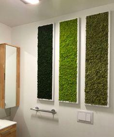 Reindeer Moss wall triptych fabricated and installed by plantwalldesign. Moss Wall Art, Moss Art, Church Interior Design, Green Wall Art, Toilet Design, Floor Art, Idee Diy, Wall Installation, Scandinavian Home