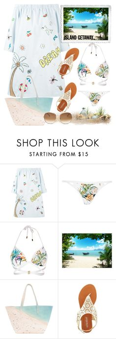 """""""island get away"""" by teto000 ❤ liked on Polyvore featuring Mira Mikati, River Island, Brewster Home Fashions, Paige Gamble, Olivia Miller, Chloé and islandgetaway"""