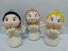 Anjinhos em biscuit