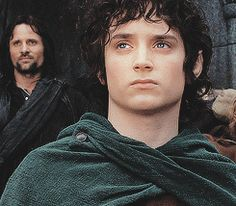 Frodo Baggins, Aragorn in back ground Tauriel, Aragorn, The Best Films, Great Movies, Lord Of The Rings, Lord Rings, The Misty Mountains Cold, Frodo Baggins, Elijah Wood