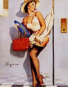 Gil Elvgren - Going Up 1955