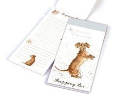 Sausage Dog Magnetic Shopping Pad ideal to connect to your fridge. http://www.a-choice-of-gifts.co.uk/giftshop/prod_4041593-Wrendale-Designs-Sausage-Dog-Magnetic-Shopping-Pad.html